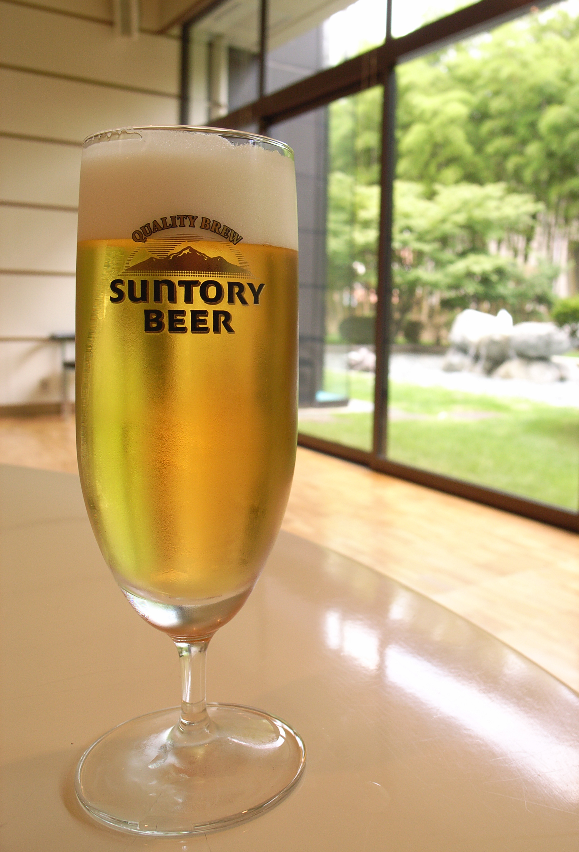English: Malts beer served at Suntory's Kyoto ...