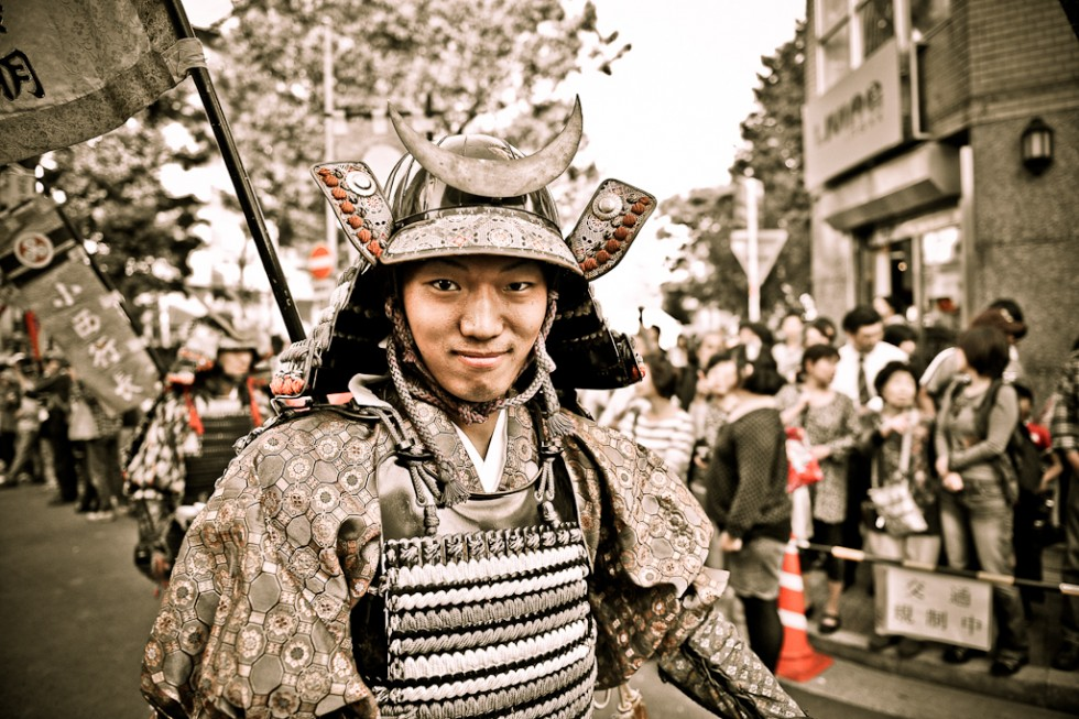 Samurai in a Parade