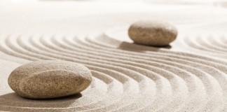 Two Stones in a Zen Garden