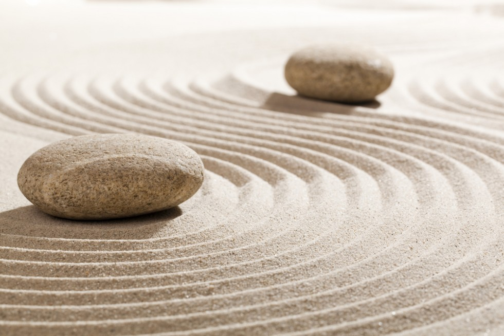 Two Stones in a Zen Garden