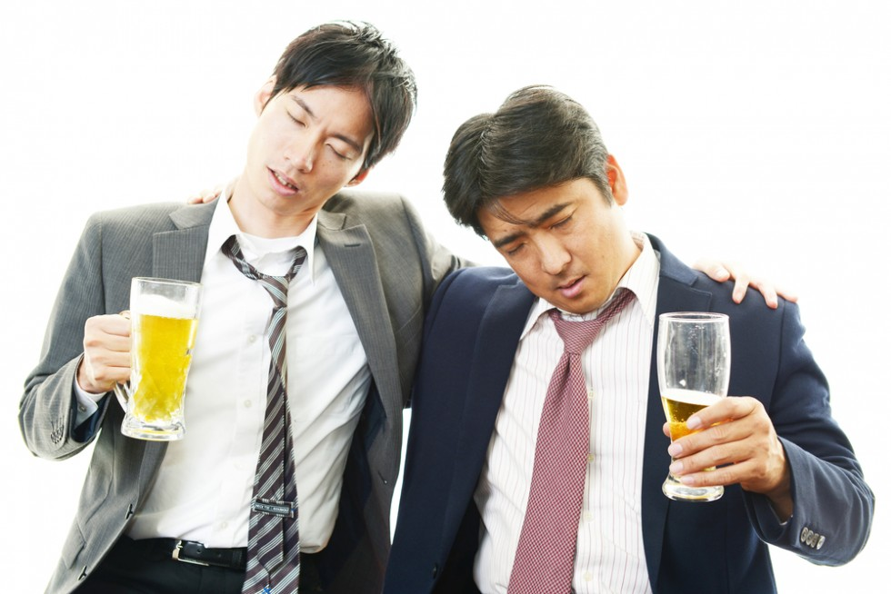 Two drunk salarymen
