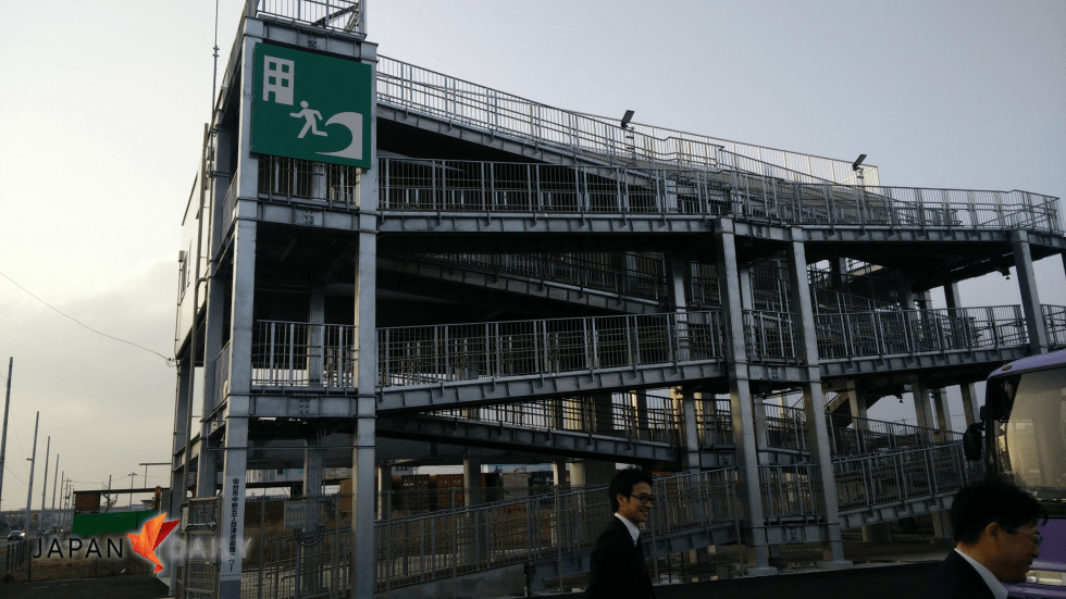 Sendai is building 13 of these tsunami evacuation towers to help citizens beat the next devastating wave.