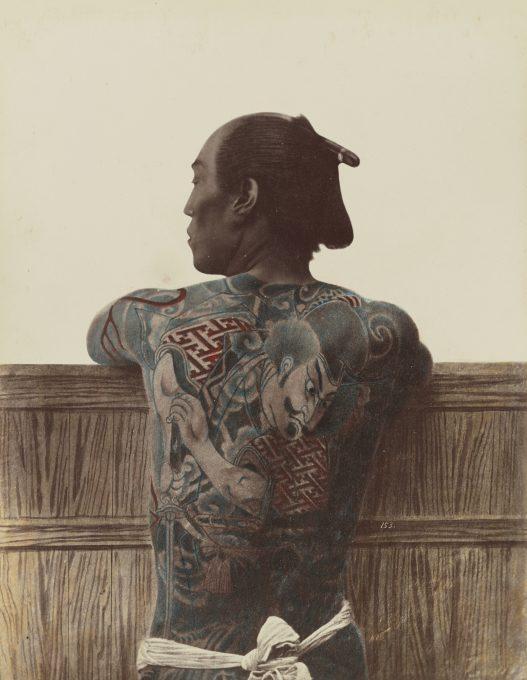 Japanese man with full-body tattoo