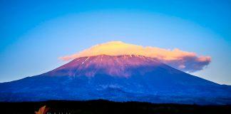 Plume Cloud forming over Mt. Fuji