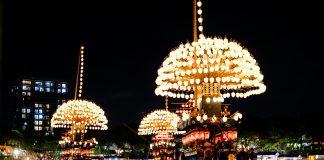 Nighttime festival in Tsushima, Aichi